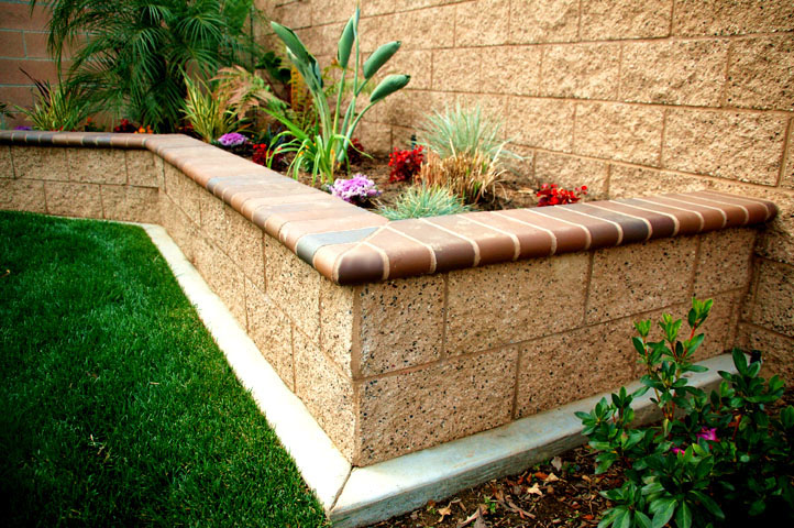 Brick Planter Box Construction